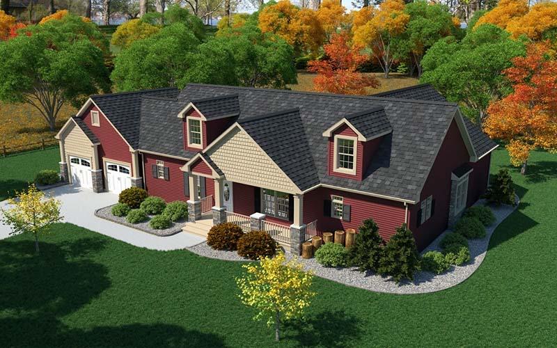 The Douglas custom modular home exterior