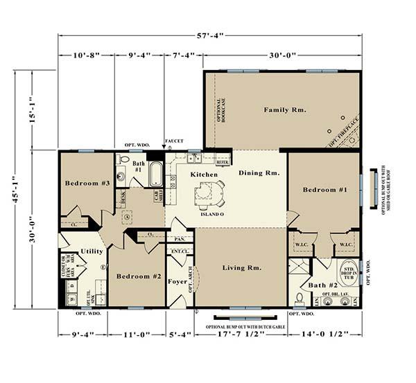 Douglas custom modular home Floorplan
