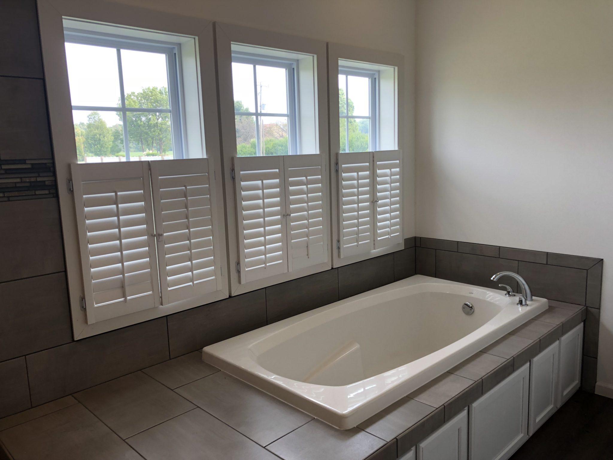 The Heritage custom modular home bathroom