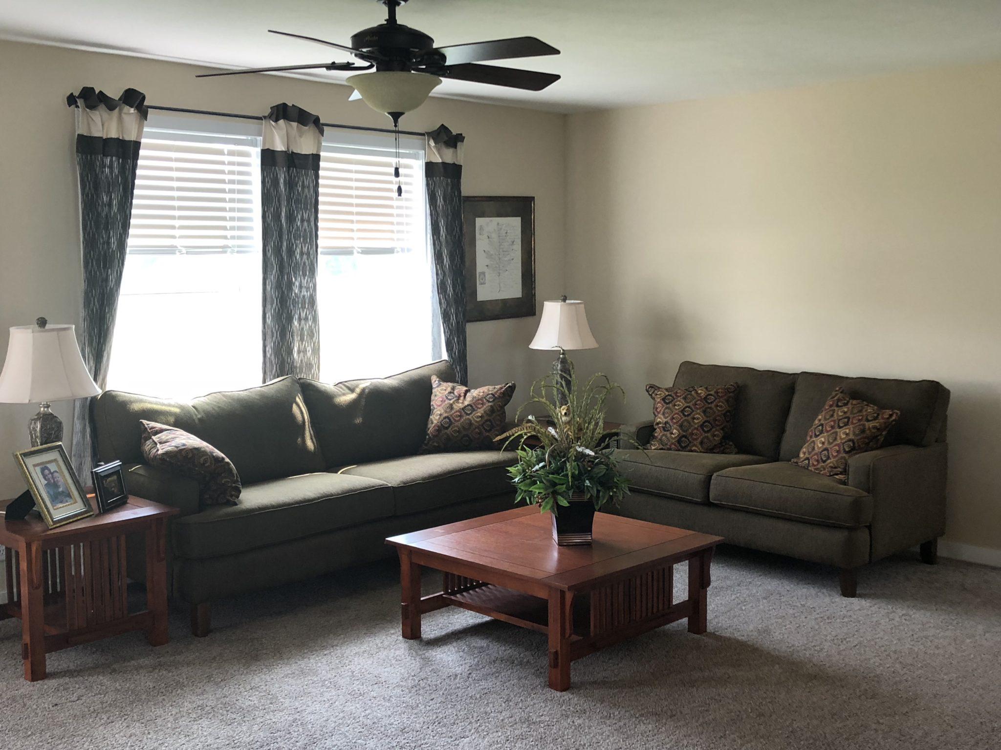 The Jackson custom modular home den