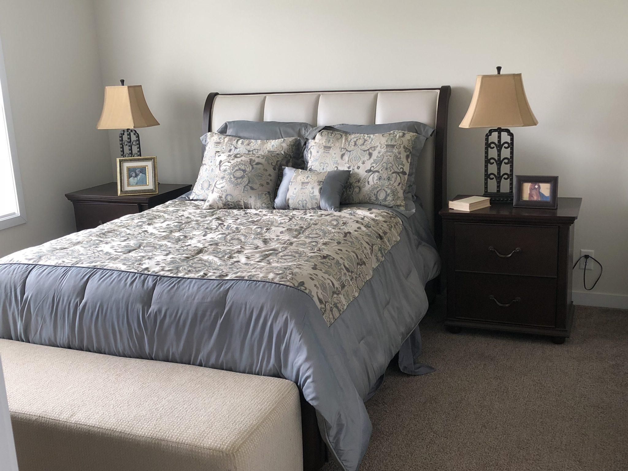 The Jackson custom modular home bedroom