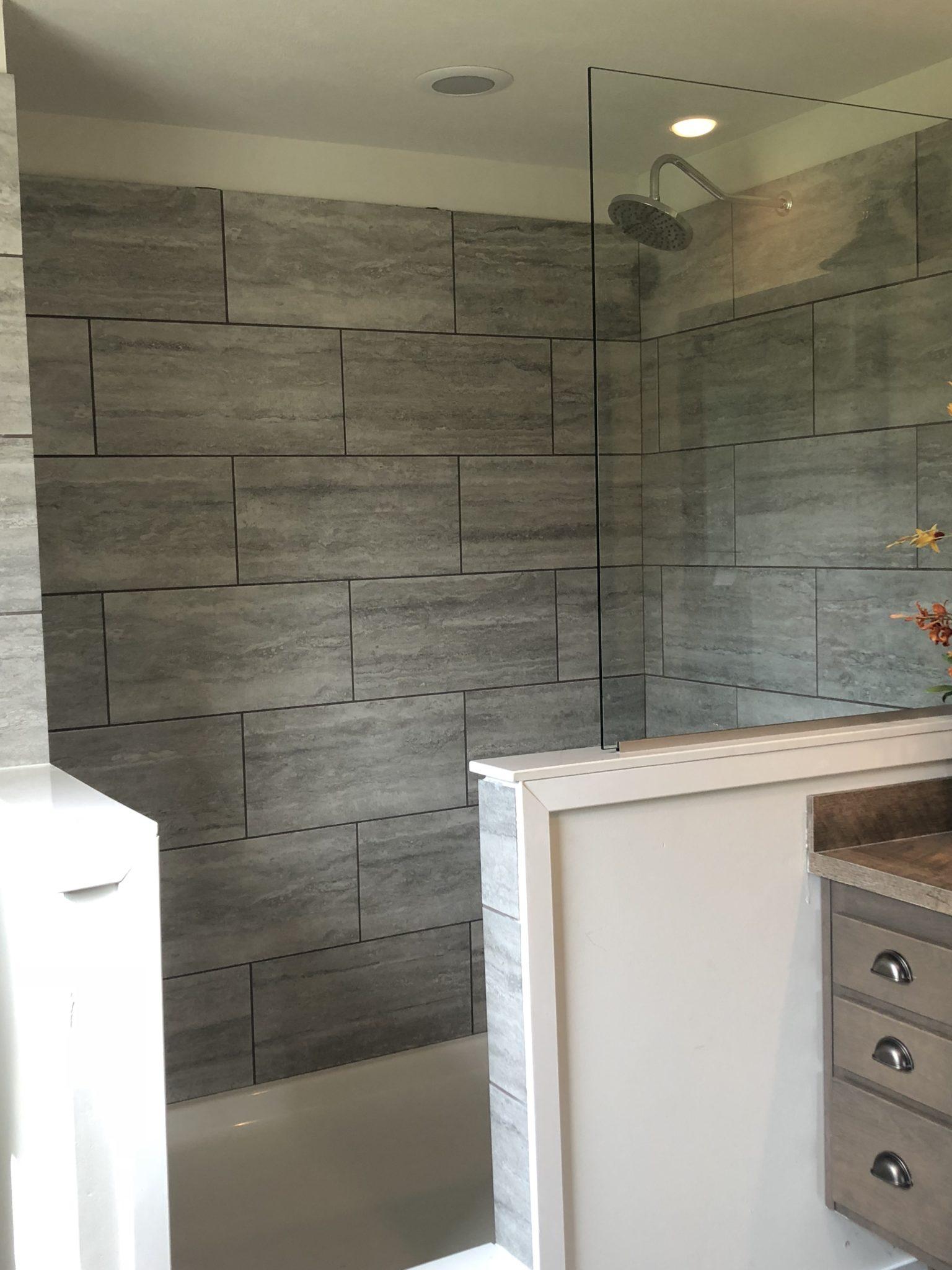 The Jackson custom modular home bathroom