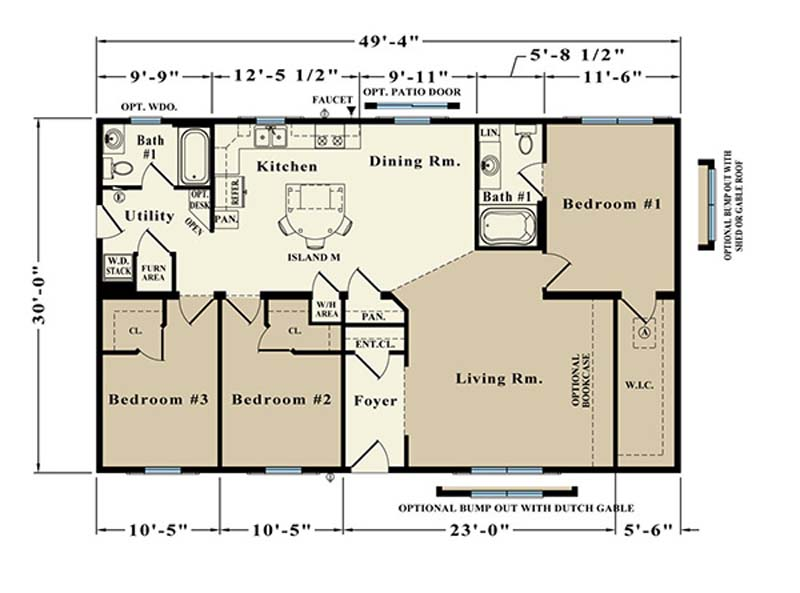 Lincoln custom modular home Floorplan