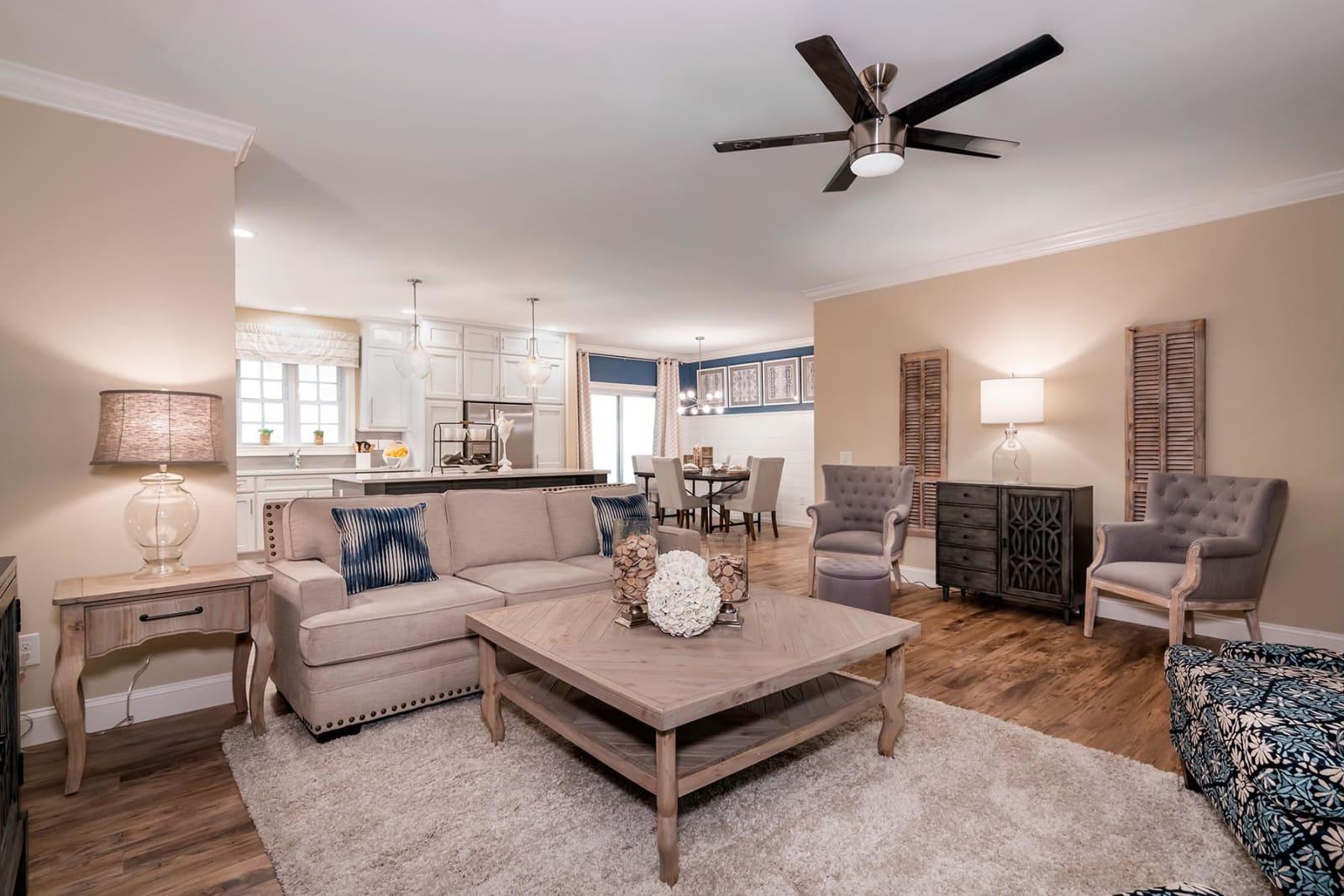 The Brooklyn, All American custom home living room